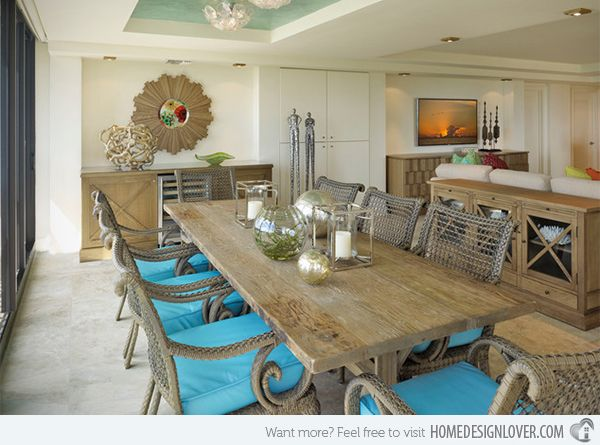 Merveilleux 15 Beach Themed Dining Room Ideas