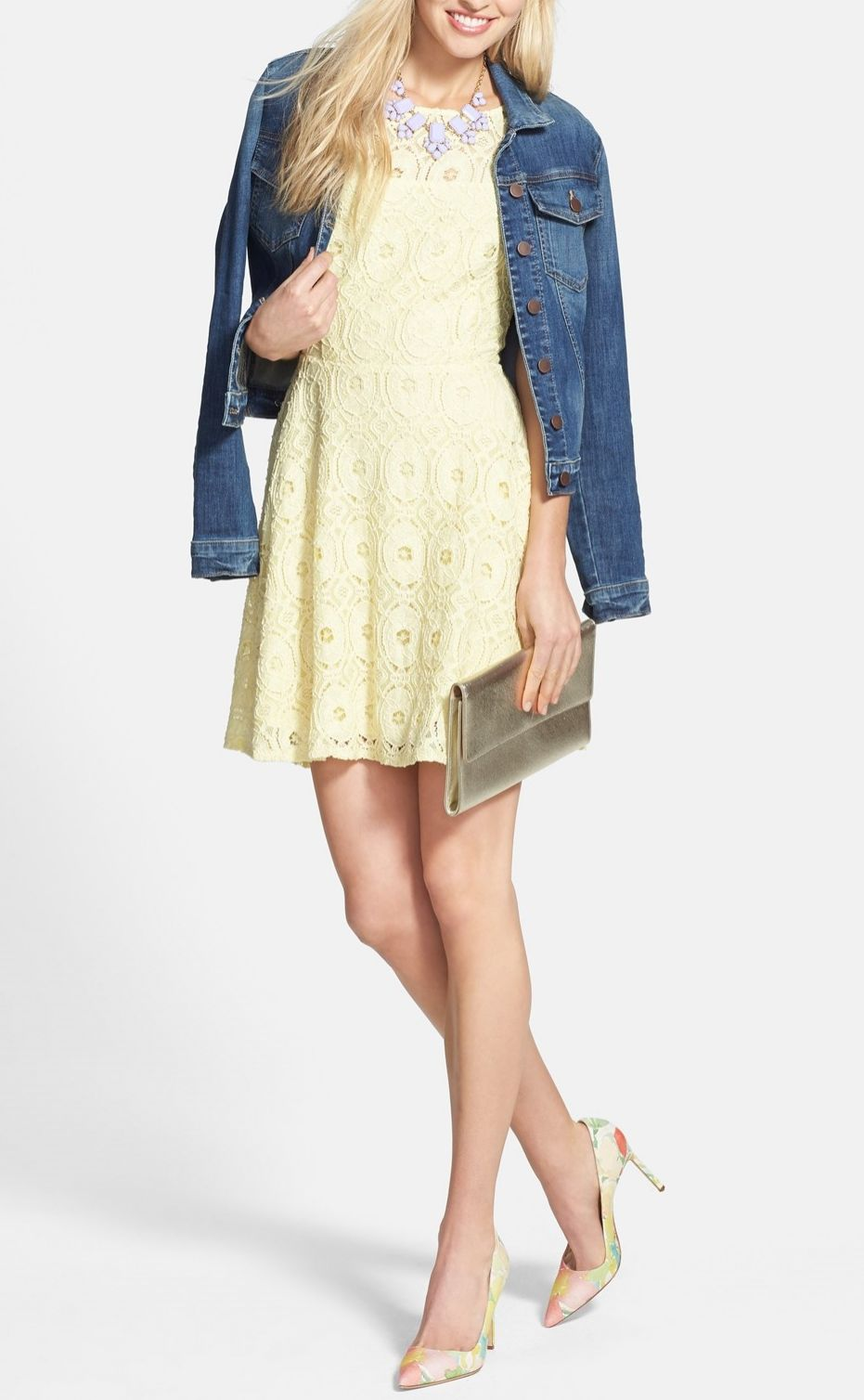 Super flattering lace sundress that is perfect for summer pair it