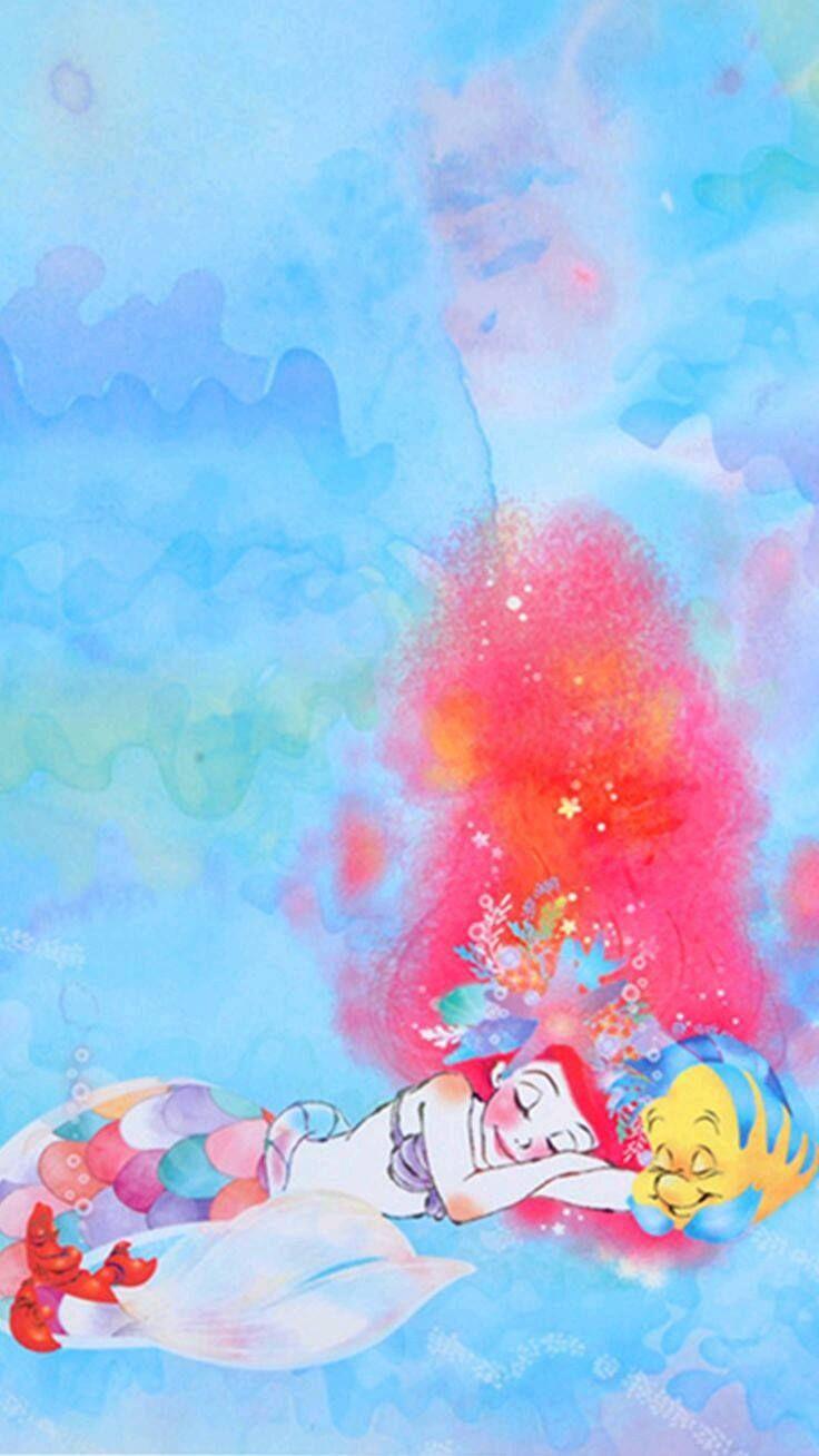ป กพ นโดย Karen Leung ใน アリエル ศ ลปะเก ยวก บด สน ย ล ตเต ลเมอร เมด วอลเปเปอร ด สน ย