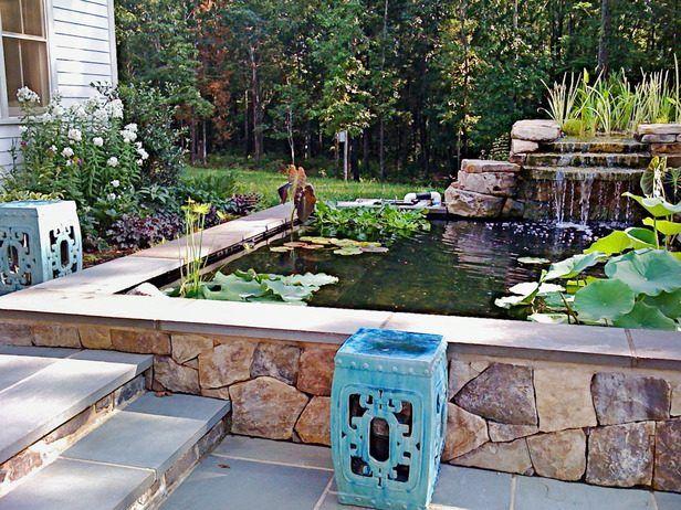 comment am nager un bassin de jardin contemporain jardins contemporains bassin et contemporain. Black Bedroom Furniture Sets. Home Design Ideas