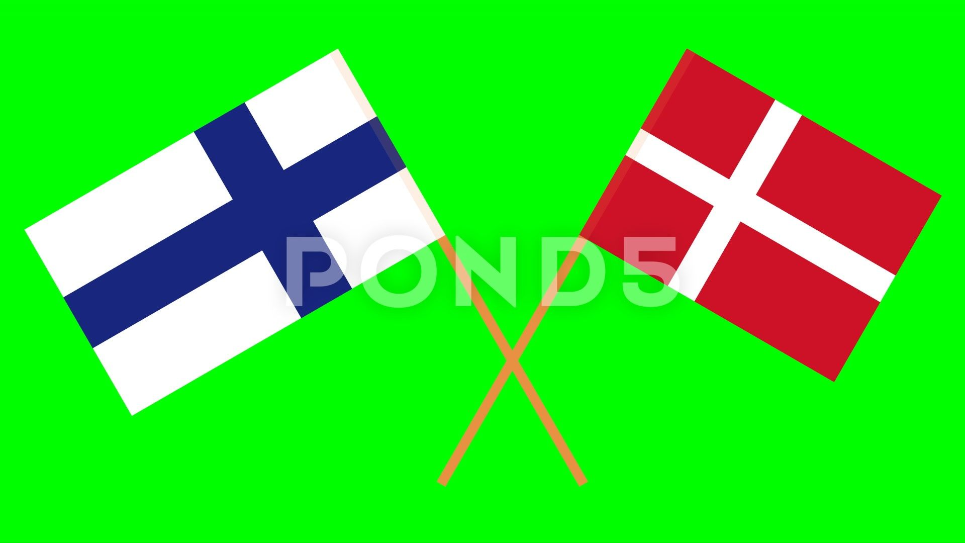 Crossed Flags Of Finland And Denmark In Front Of A Green Screen Chroma Key Stock Footage Ad Denmark Front Finland Crossed Chroma Key Cross Flag Greenscreen