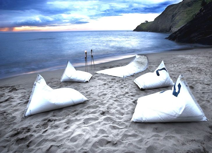 Beautiful Canvas Sails Repurposed As Furniture Evoke The