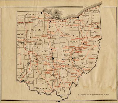 Mound Builders Indian Trails Ohio History Ohio Map