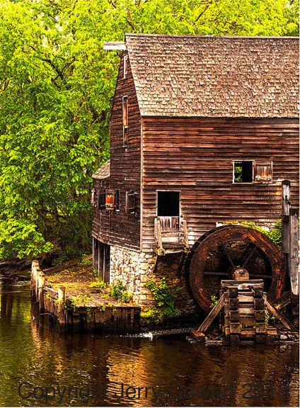 Water Wheel at Sleepy Hollow Manor House by PhotosbyJerryCowart, $27.50