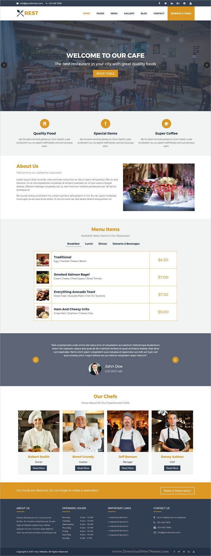 Rest is a nice and attractive design responsive HTML5 #bootstrap ...