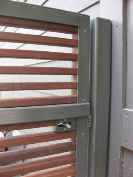Hardware And Horizontal Stripes Gate