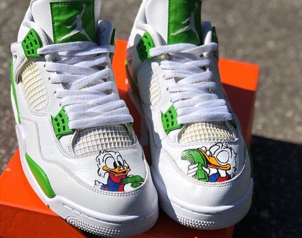detailed look 98ba6 1eb74 Scrooge McDuck Custom Nike Air Jordan 4 Retro