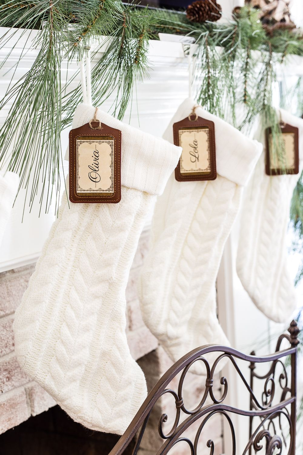 DIY Personalized Stocking Tags + Printable Labels | Christmas decor ...