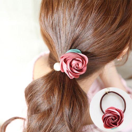 Korean Style Handmade Headwear Ring Hair Rope Flowers Pearl Bobbles Bands Elastic Hairband 2 Pcs Set Ht002 Ebay Free Peinados