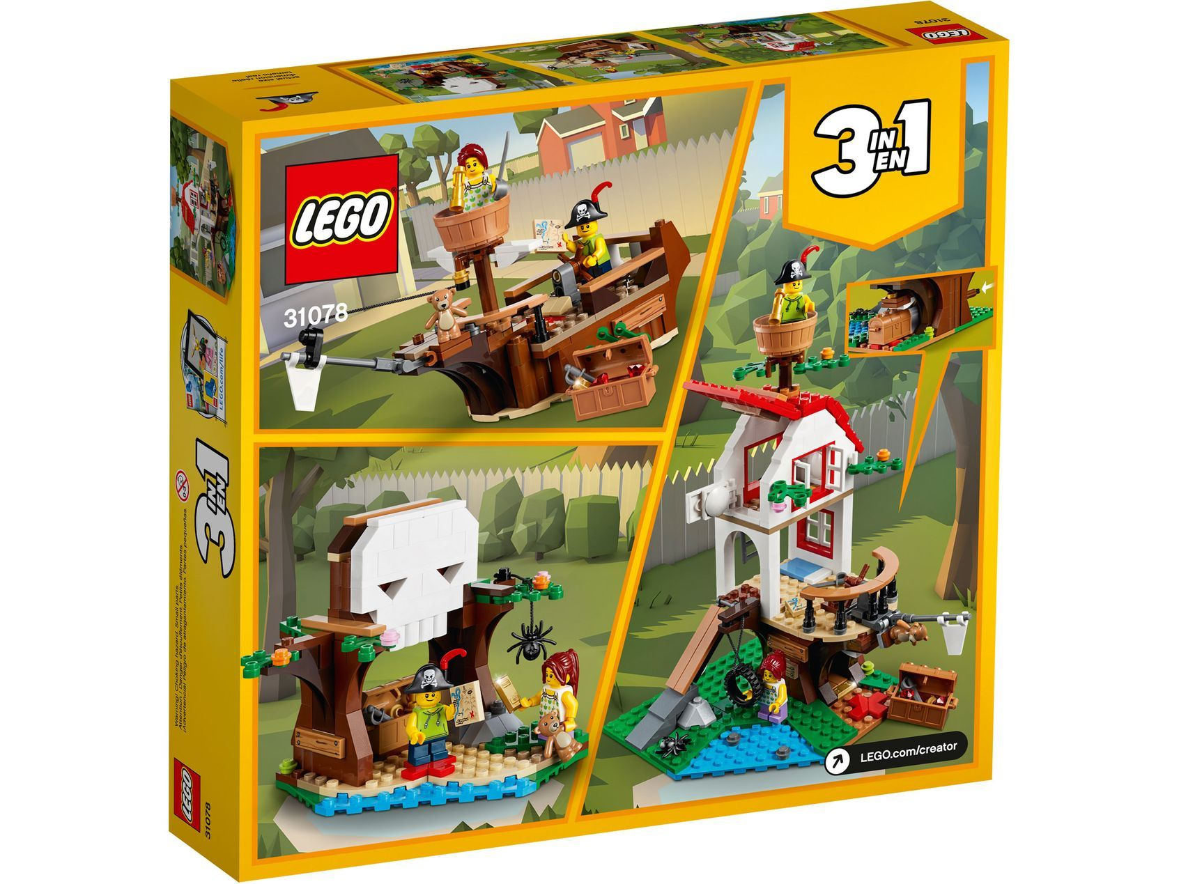 Treehouse Treasures 31078 Creator 3 In 1 Buy Online At The Official Lego Shop Us Lego Creator Tree House Lego