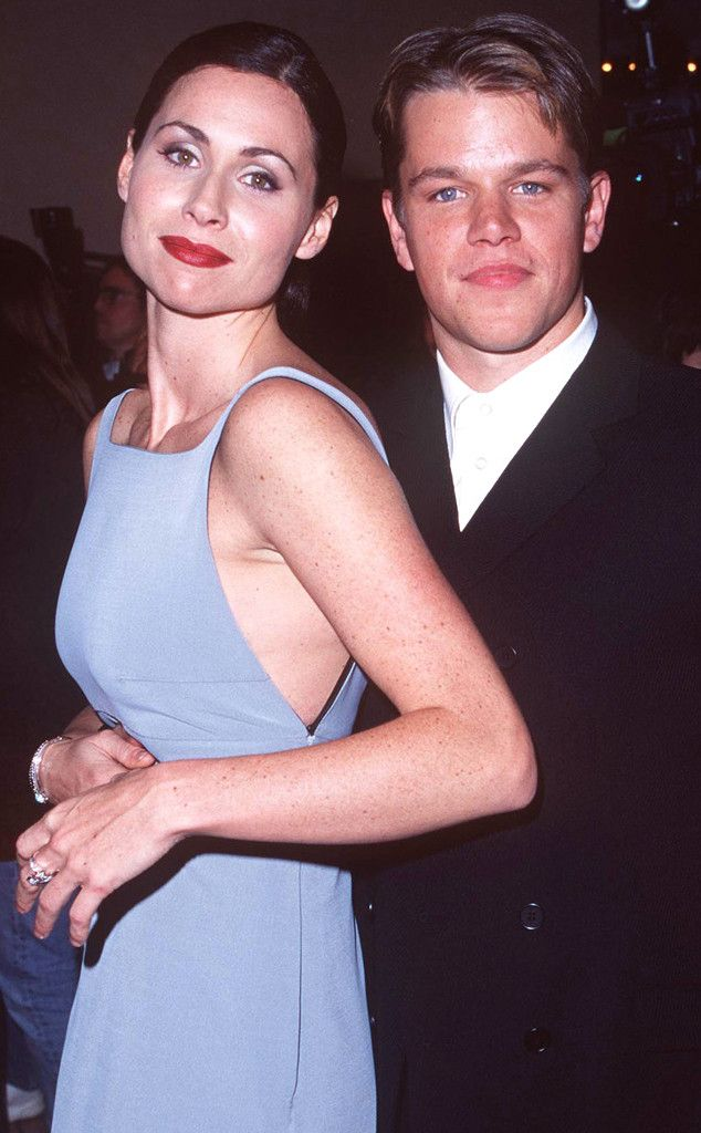 90s Couples You Forgot About Minnie Driver Celebrity Couples Matt Damon