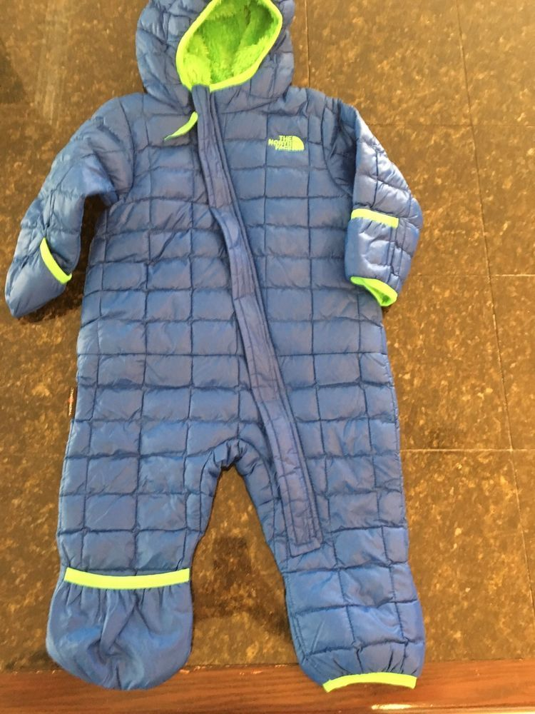 Infant Boys The North Face One Piece Snowsuit Blue New 6 12 Months Fashion Clothing Shoes Accessories Babytoddlercl Snow Suit The North Face Baby Snowsuit