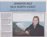 July 2 -- Jennifer Rice to take First Nation engagement and environmental concerns into Legislature discussion on LNG