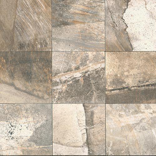 """Porada 13"""" x 13"""" - Soft Taupe Floor Tile By SouthCypress.com"""