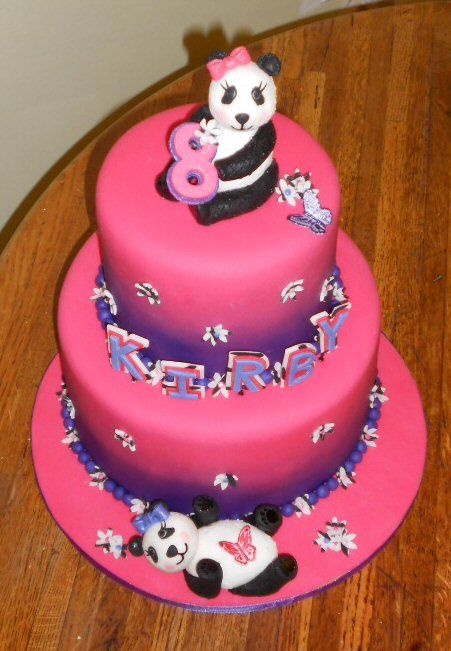 Panda bear cake - Made this for a friend. It was her ...