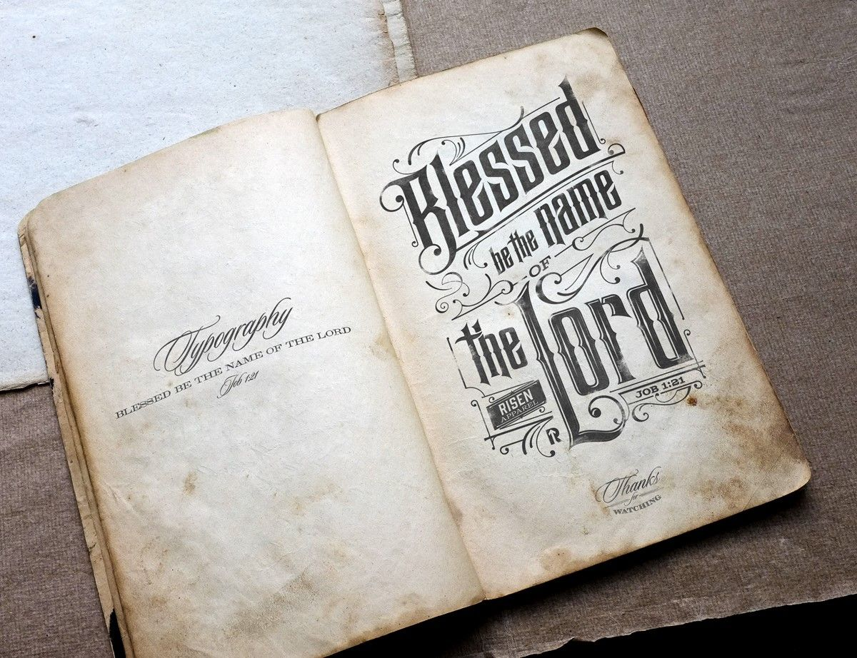 Bless the lord by Tomasz Biernat #typography #typostrate #design #art