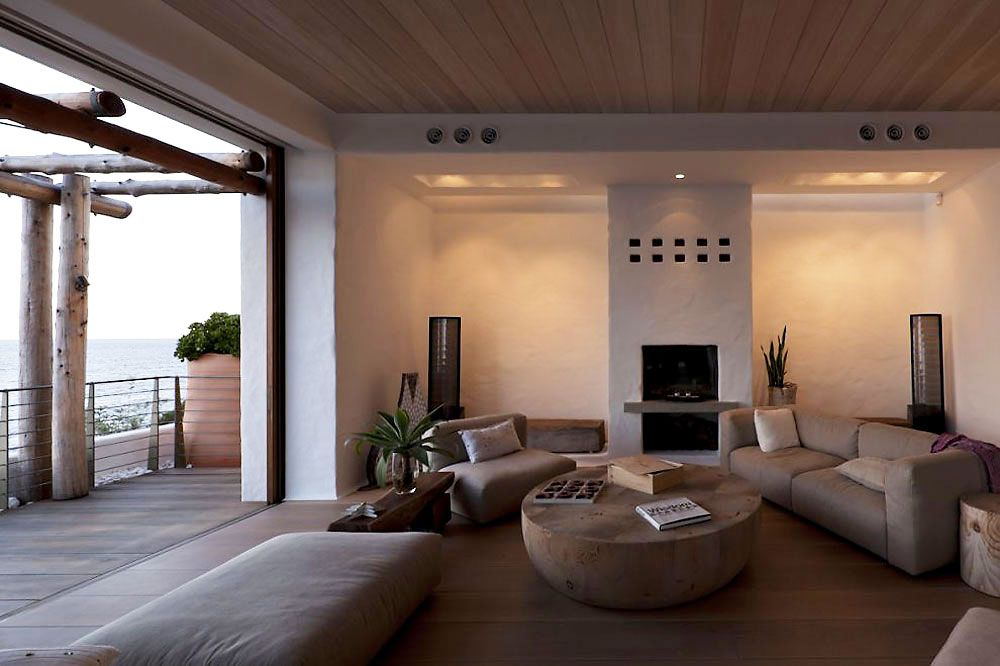 Living Room Fireplace Sofas Beautiful Waterfront Home In Coogee Australia