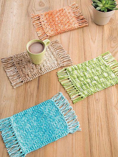 Table Decor Knitting Patterns Easy Knitting Knitting Patterns And