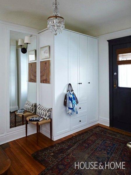 Front Closet Organization Entryway Ideas