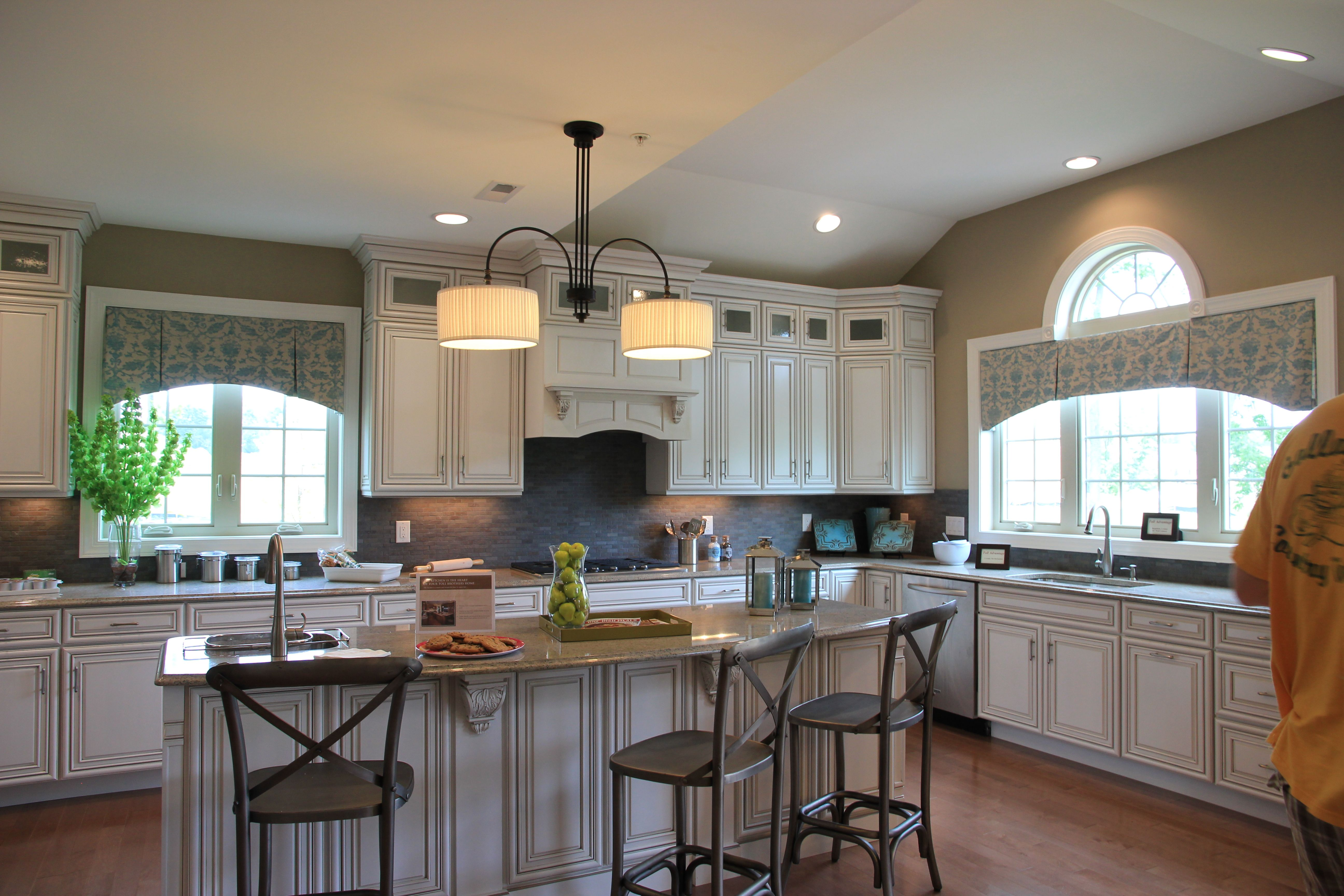 Window Treatment Idea For Palladian Kitchen From Toll Brothers Model Home