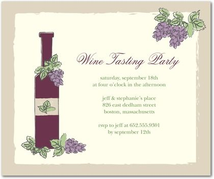 event announcement template wine and cheese tasting party