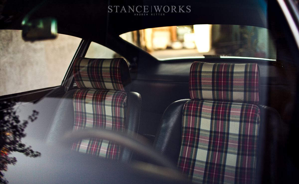 magnus walker porsche tartan seats general automotive. Black Bedroom Furniture Sets. Home Design Ideas