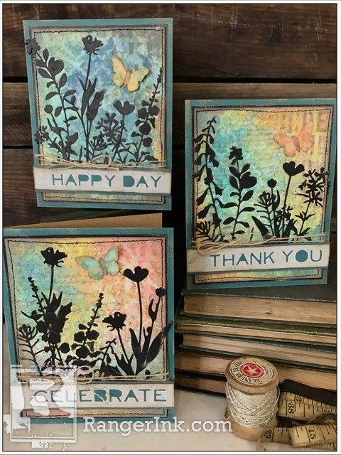 Wildflower Cards By Richele Christensen Tim Holtz