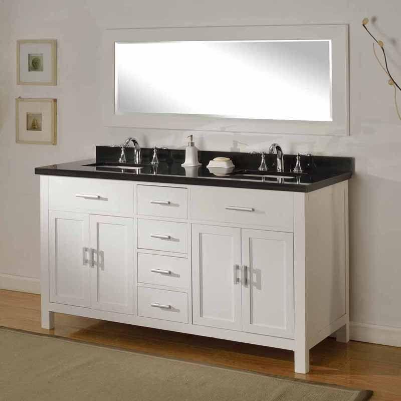 Direct Vanity Sink Hutton Spa 63D7 62 in Double Bathroom Vanity