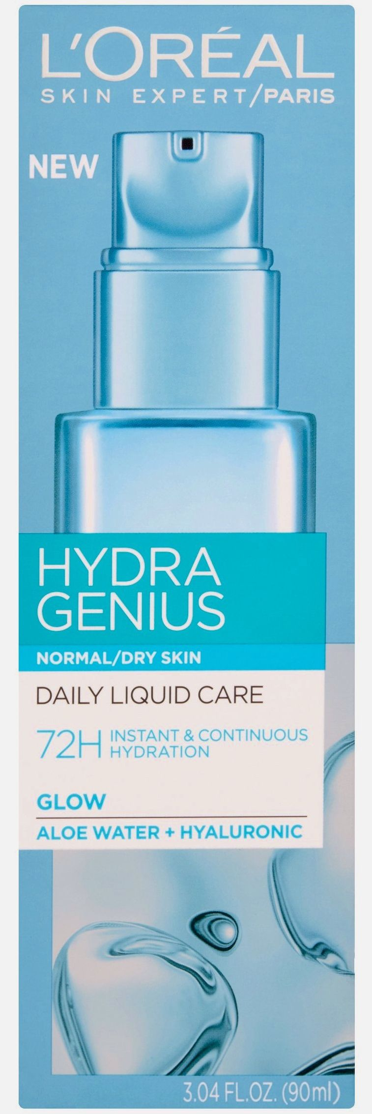 L Oreal Paris Hydra Genius Daily Liquid Care For Normal To Dry Skin 3 04 Fl Oz Walmart Com Lotion For Dry Skin Moisturizer For Dry Skin Gel Face Moisturizer