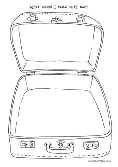What would I take with me ... suitcase template | CBT for ...
