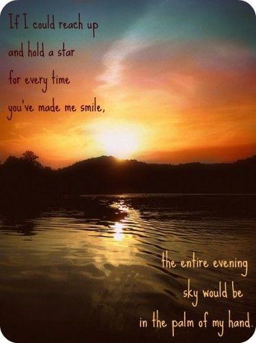 you make me smile like the stars | Inspirational Quotes