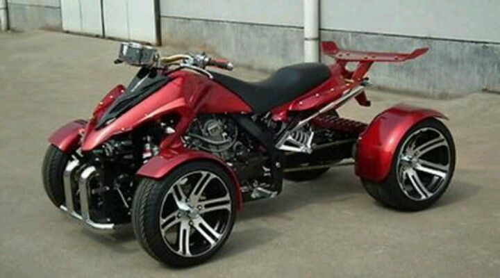 4 Wheeler Trike Motorcycle Quad Bike Custom Street Bikes