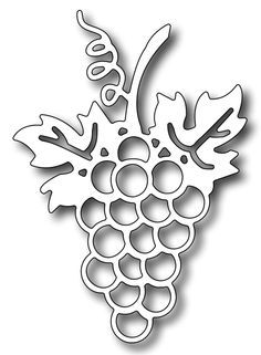 Grapes stencil grape stencils craft fruit leaf leaves template new.