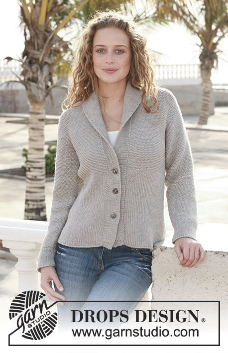 Jamie / DROPS 112-40 - Knitted DROPS Jacket with rib in Merino Extra ...