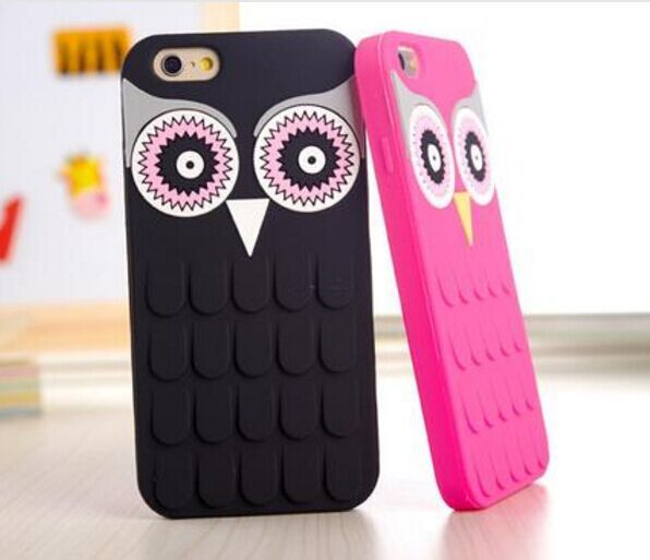 be2514c763 CUTE CARTOON OWL iPHONE 7 Cases SOFT RUBBER COVER FOR IPHONE 4 / 4S / 5 / 5S  / 6 / 6 PLUS 7 SE PHONE CASE