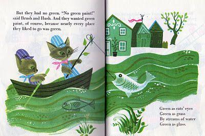 The Color Kittens Little Golden Book Fun Illustration Classic Childrens Books Illustration Print