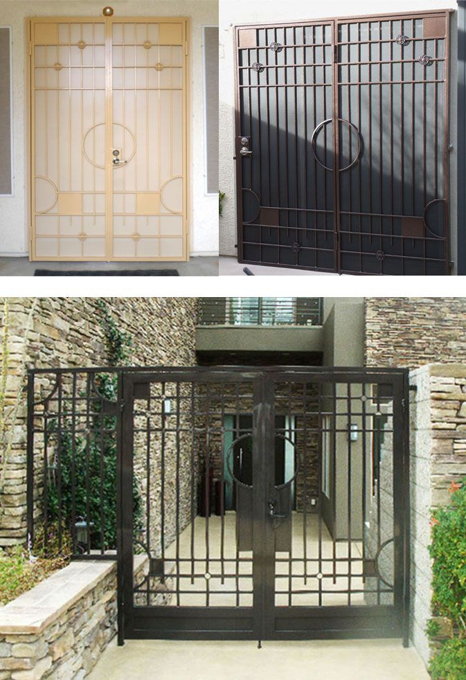 Best Similar Themed Modern Wrought Iron Gates Door Gate 640 x 480
