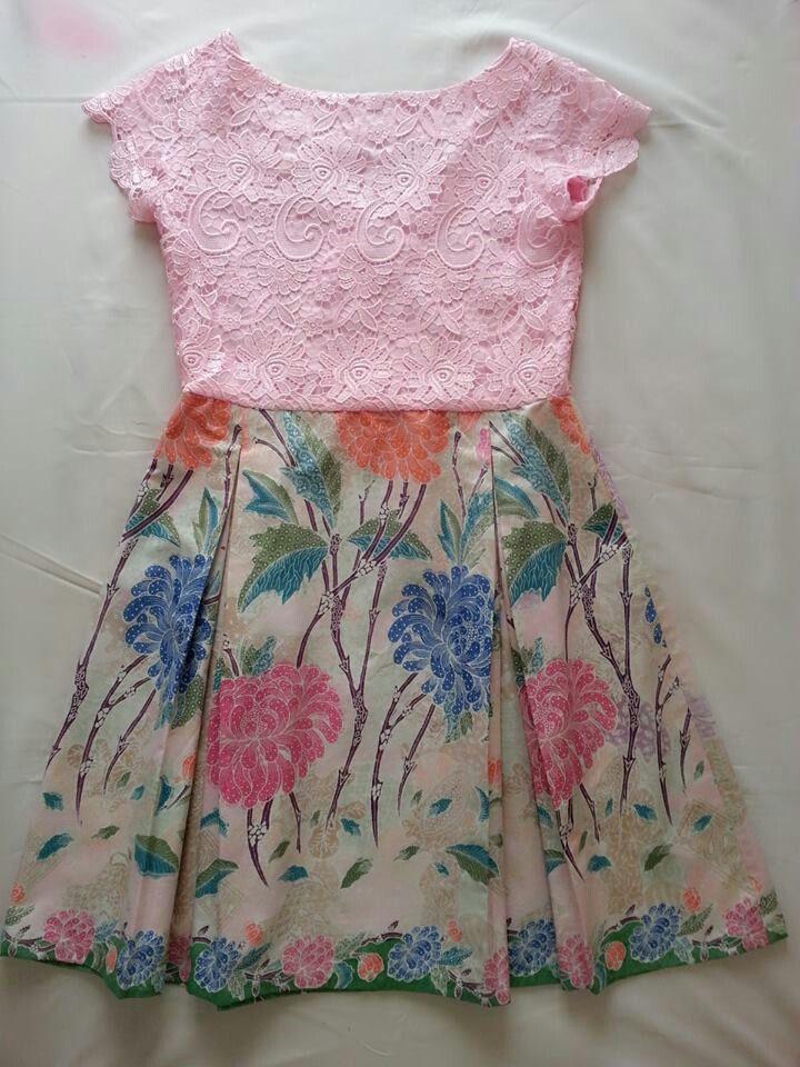 Lacey Plus Batik Yeaayy Batik Gaun Gadis Kecil Gaun Bayi