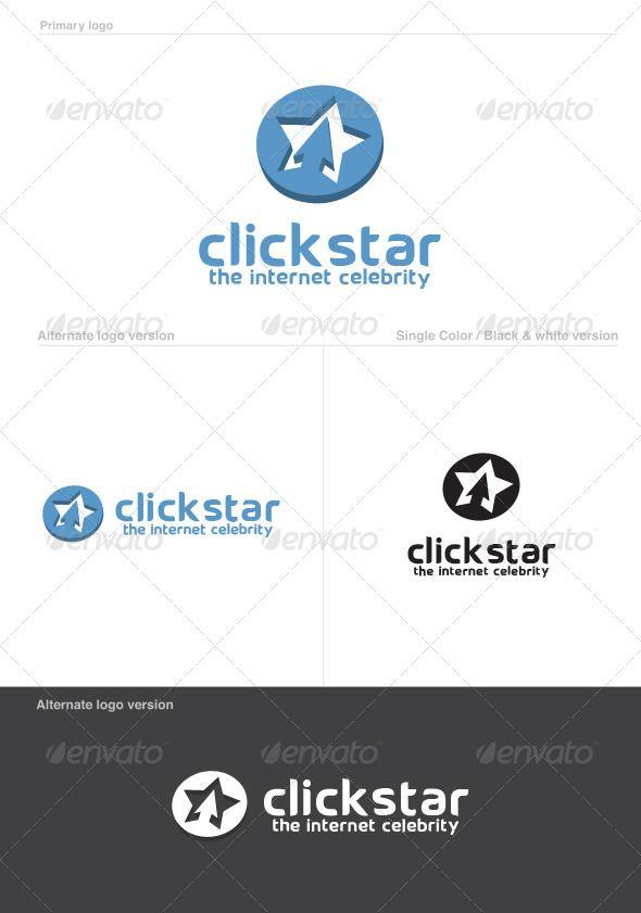 Click Star Logo Template #GraphicRiver Click Star Logo
