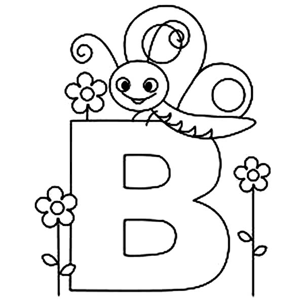 B Is For Butterfly On Learning Abc Coloring Page Coloring Sky Abc Coloring Pages Abc Coloring Coloring Pages