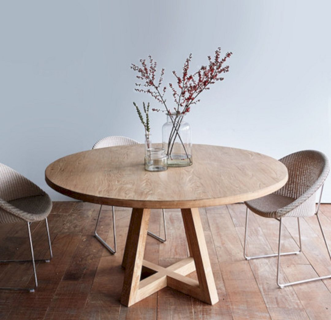 75 Simple And Minimalist Dining Table Decor Ideas In 2020 Round