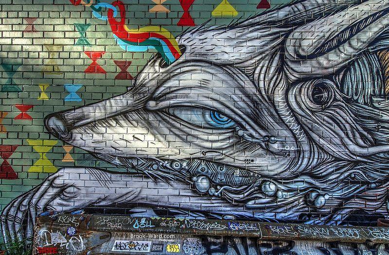 Detroit Graffiti Graffiti, Art, Lion sculpture