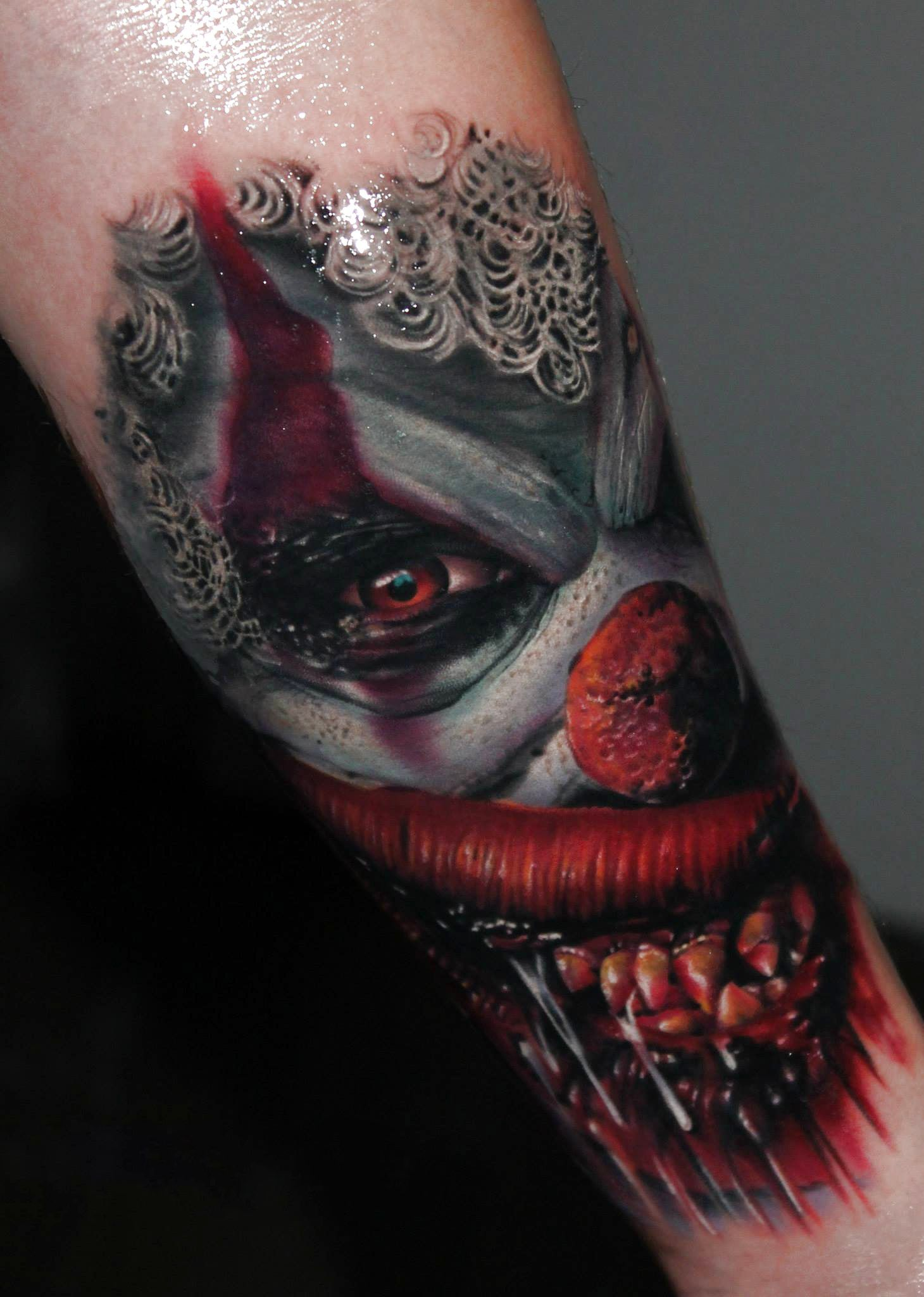0314c71f8 Related Pictures Evil Clown Tattoos Hairstyles Evil Clown Tattoo ...