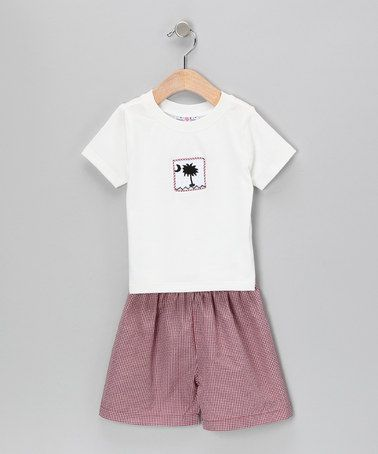 Take a look at this Garnet Tee & Gingham Shorts - Infant & Toddler by Molly Pop Inc. on #zulily today!