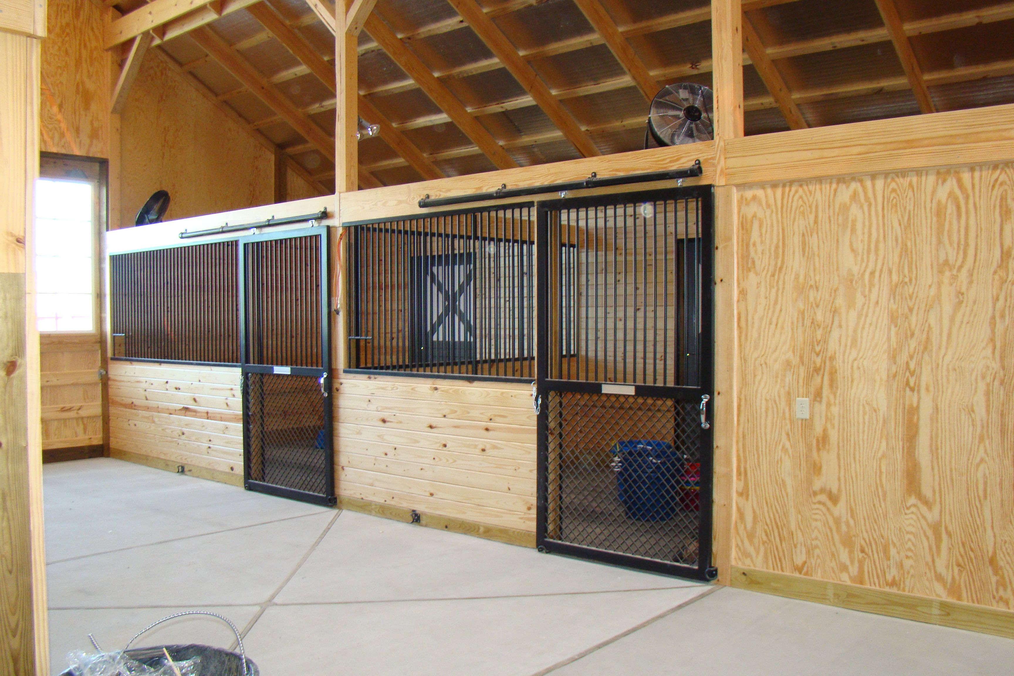 Although these stall doors are probably more expensive for Horse barn materials