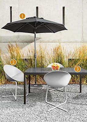 Room Board Dining E With Maui Umbrella Modern Outdoor Furniture