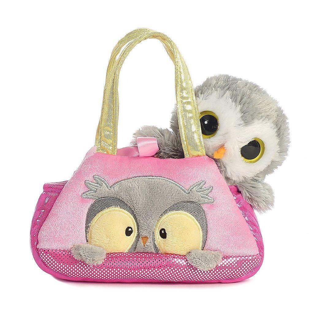 Aurora Fancy Pals 7 In 2020 Owl Pet Owl Plush Pet Carriers