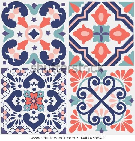 Vector Tile Pattern Mediterranean Ornament Lisbon Floral Mosaic Floral Mosaic Pattern Art Mediterranean Tile