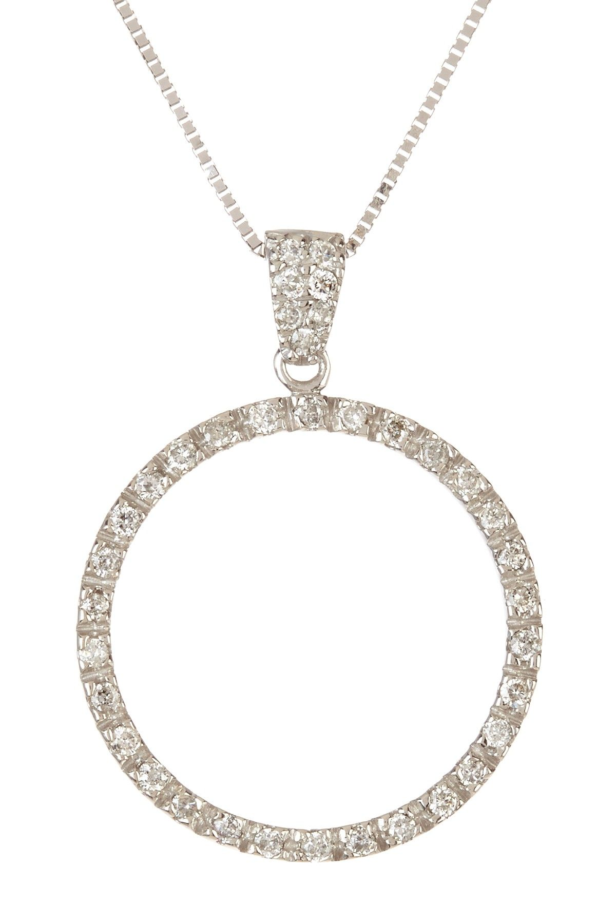 14k white gold diamond circle pendant necklace jewelry pinterest 14k white gold diamond circle pendant necklace aloadofball Choice Image