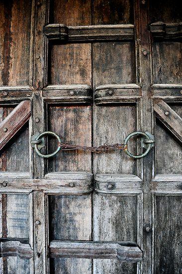 Vietnamese door, barn door inspiration